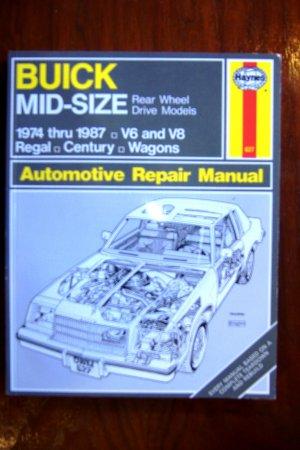 1974-1987 Buick Regal Century Wagons V6 & V8 Rear Wheel Drive Haynes Repair Manual