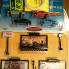 ALL HO Scale Hwy & Street Set LIGHTED w/ wires - 20' Roll White Road striping & 4 1950's Cars