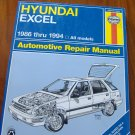1986 - 1994 Hyundai Excel Haynes Repair Manual