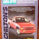 94-99 Chevrolet S-10 & Blazer GMC Sonoma Envoy Jimmy Oldsmobile Bravada Isuzu Hombre Chiltons