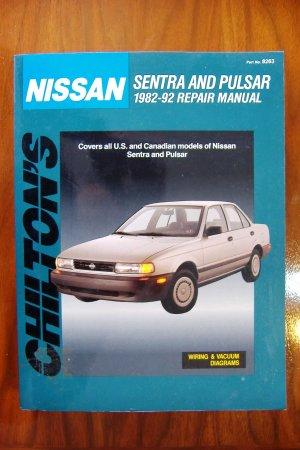 1982-1992 Nissan Sentra & Pulsar Chiltons Repair Manual