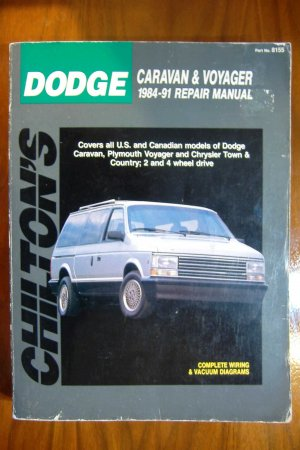 84-91 Dodge Caravan Plymouth Voyager Chrysler Town & Country Chiltons Manual