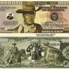 JOHN WAYNE THE DUKE COWBOY MILLION DOLLAR BILLS x 4 NEW
