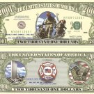 9/11 FIRE FIGHTERS NEW YORK CITY 2001 DOLLAR BILLS x 4