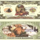 HAPPY THANKSGIVING ONE MILLION DOLLAR BILLS x 4 GIFT NEW