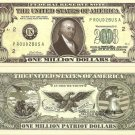AMERICAN PATRIOT PAUL REVERE MILLION DOLLAR BILLS x 4