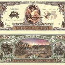 WILD WEST COWBOY WESTERN DEAD OR ALIVE DOLLAR BILLS x 4