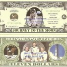 APOLLO 11 JOURNEY TO THE MOON LANDING DOLLAR BILLS x 4
