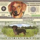 DACHSHUND DOG PUPPY MILLION DOLLAR BILLS x 4 GIFT NEW