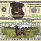 ROTTWEILER DOG ONE MILLION DOLLAR BILLS x 4 NEW GIFT
