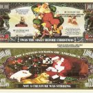 TWAS THE NIGHT BEFORE CHRISTMAS MILLION DOLLAR BILLS x4