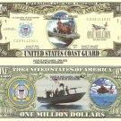 UNITED STATES COAST GUARD ONE MILLION DOLLAR BILLS x 4