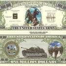 UNITED STATES ARMY SOLDIER TANK MILLION DOLLAR BILLS x 4
