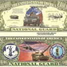 UNITED STATES AIR ARMY NATIONAL GUARD DOLLAR BILLS x 4