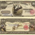 RODEO COWBOY BUCKING BRONCO MILLION DOLLAR BILLS x 4