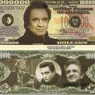 JOHNNY CASH MAN IN BLACK MILLION DOLLAR BILLS x 4 NEW
