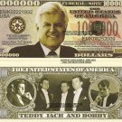 EDWARD MOORE TED KENNEDY COMMEMORATIVE DOLLAR BILLS x 4