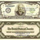 EISENHOWER 34th PRESIDENT USA 10,000 DOLLAR BILLS x 4
