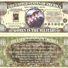 WOMEN IN THE MILITARY AMERICAN MILLION DOLLAR BILLS x 4