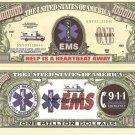 EMERGENCY MEDICAL SERVICES EMS MILLION DOLLAR BILLS x 4