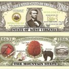 WEST VIRGINIA MOUNTAIN STATE 1863 DOLLAR BILLS x 4 WV