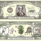 TENNESSEE THE VOLUNTEER STATE 1796 DOLLAR BILLS x 4 TN