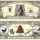 RHODE ISLAND THE OCEAN STATE 1790 DOLLAR BILLS x 4 RI