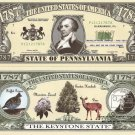 PENNSYLVANIA THE KEYSTONE STATE 1787 DOLLAR BILLS x4 PA