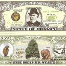OREGON THE BEAVER STATE 1859 DOLLAR BILLS x 4 OR