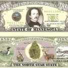 MINNESOTA THE NORTH STAR STATE 1858 DOLLAR BILLS x 4 MN