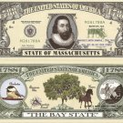 MASSACHUSETTS THE BAY STATE 1788 DOLLAR BILLS x 4 MA