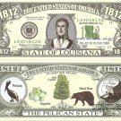 LOUISIANA THE PELICAN STATE 1812 DOLLAR BILLS x 4 LA