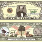 FLORIDA THE SUNSHINE STATE 1845 DOLLAR BILLS x 4 FL