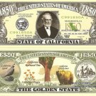 CALIFORNIA THE GOLDEN STATE 1850 DOLLAR BILLS x 4 CA