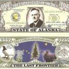 ALASKA THE LAST FRONTIER STATE 1959 DOLLAR BILLS x 4 AK