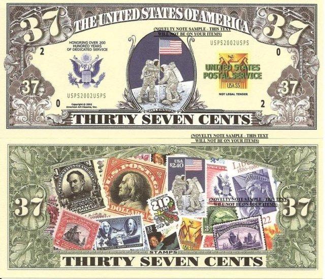UNITED STATES POSTAL SERVICE 37c 200 YEARS BILLS x 4