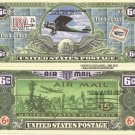 UNITED STATES POSTAL SERVICE 6c AIR MAIL BILLS x 4