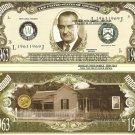 36th PRESIDENT LYNDON B JOHNSON MILLION DOLLAR BILLS x 4