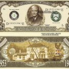 34th PRESIDENT DWIGHT D EISENHOWER DOLLAR BILLS x 4