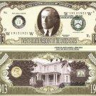 28th PRESIDENT WOODROW WILSON MILLION DOLLAR BILLS x 4