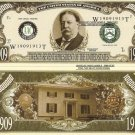 27th PRESIDENT WILLIAM HOWARD TAFT DOLLAR BILLS x 4