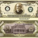 23rd PRESIDENT BENJAMIN HARRISON DOLLAR BILLS x 4