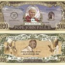 POPE JOHN PAUL II COMMEMORATIVE BILLS x 4 Ltd Edition