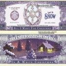 WHITE CHRISTMAS SNOW FLAKE MILLION DOLLAR BILLS x 4 NEW