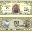 9/11 POLICE OFFICER NEW YORK CITY 2001 DOLLAR BILLS x 4