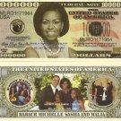 MICHELLE OBAMA FIRST LADY FAMILY MILLION DOLLAR BILLSx4