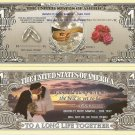 WEDDING WITH THIS RING DOLLAR BILLS x 4 FAVOURS NEW GIFT