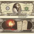 MOSES TEN COMMANDMENTS MOUNT SINAI 10 DOLLAR BILLS x 4