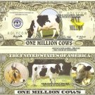 COWS BOS FEMINA BOVINE DOMESTICUS DOLLAR BILLS x 4 NEW