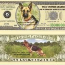 GERMAN SHEPHERD ALSATIAN DOG MILLION DOLLAR BILLS x 4